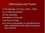 d annunzio and fiume