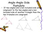 angle angle side postulate