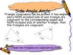 side angle angle