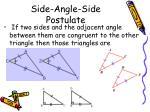 side angle side postulate