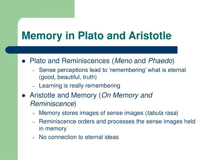 Memory in plato and aristotle
