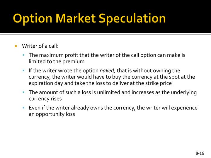 Option Market Speculation