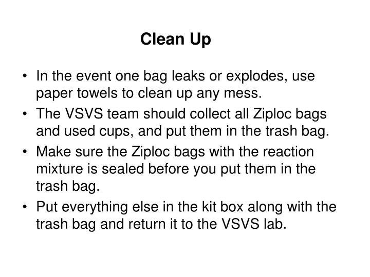 Clean Up