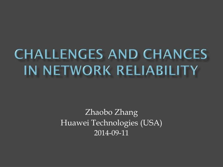 Challenges and chances in network reliability