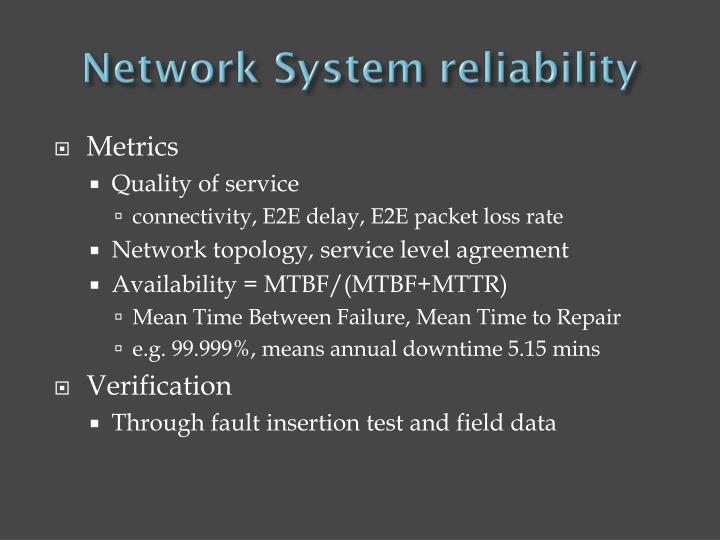 Network System reliability