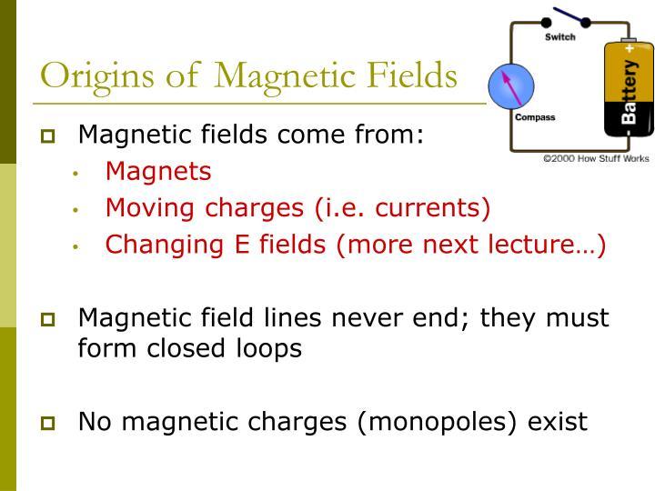 Origins of Magnetic Fields