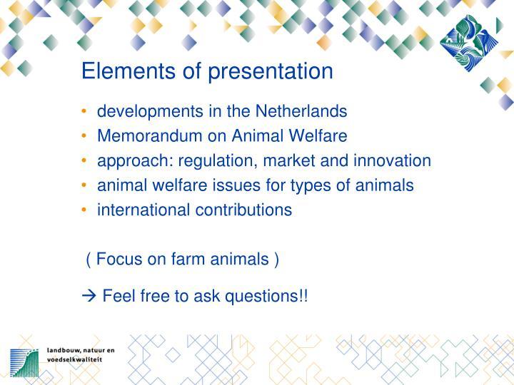 Elements of presentation