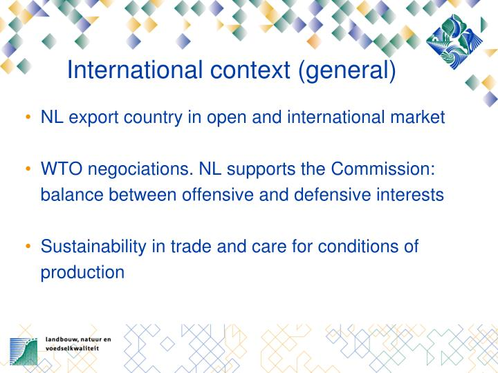 International context (general)