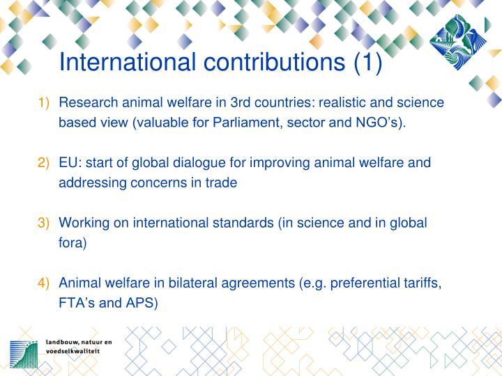 International contributions (1)