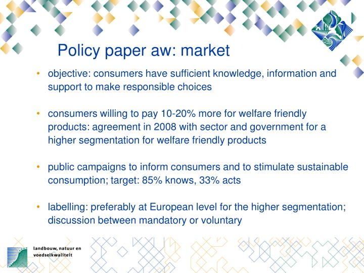 Policy paper aw: market