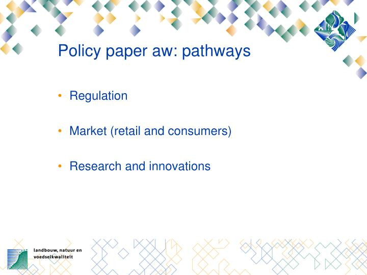 Policy paper aw: pathways