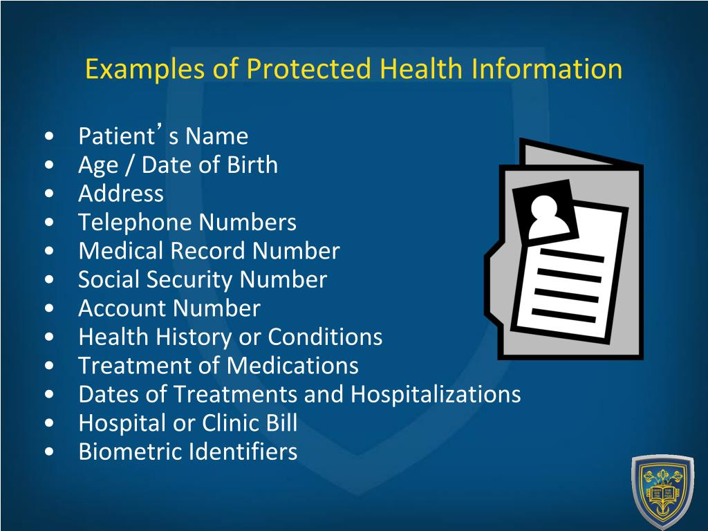examples-of-protected-health-information-l Visual Protected Health Information Examples on information technology examples, protected patient information clip art, target market examples,