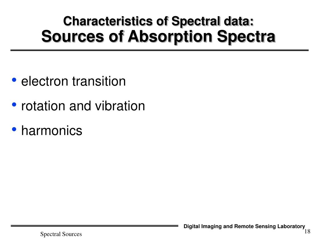 PPT - Spectral Signatures PowerPoint Presentation - ID:6044362
