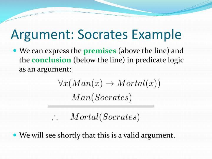 Argument socrates example