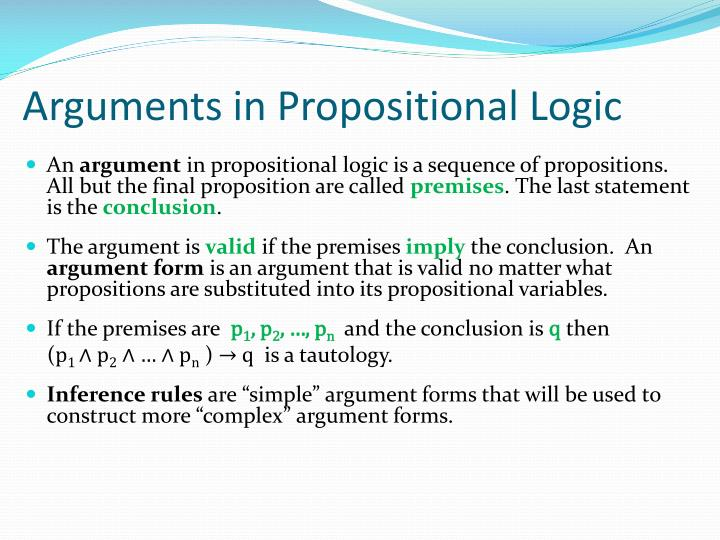 Arguments in Propositional Logic