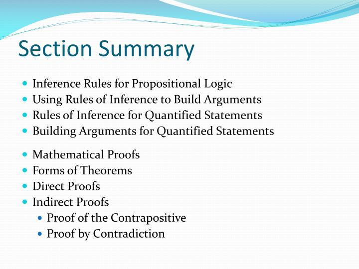 Section summary
