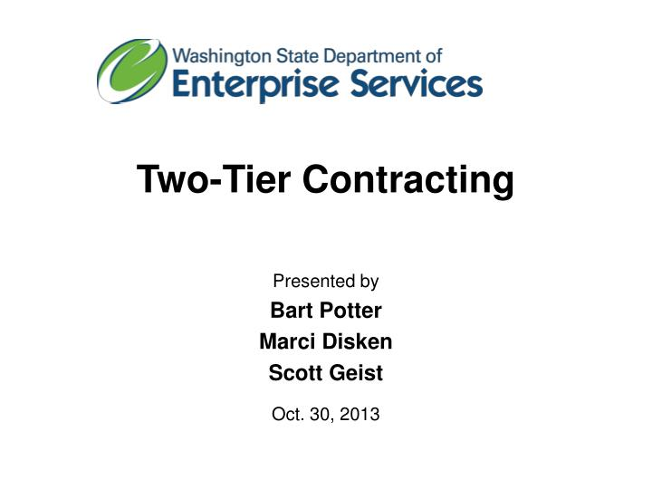 two tier contracting n.
