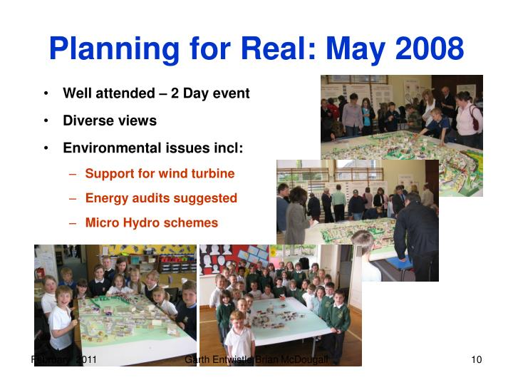 Planning for Real: May 2008