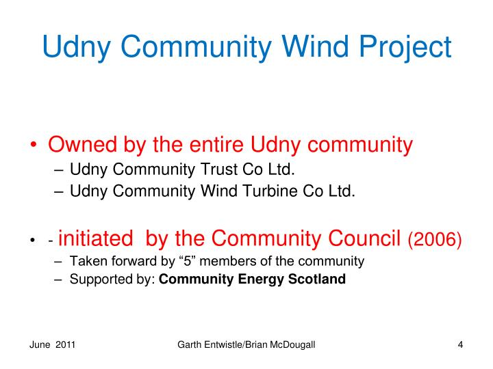 Udny Community Wind Project