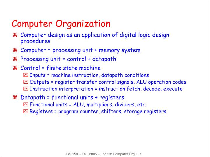 Ppt Computer Organization Powerpoint Presentation Free Download Id 6044647