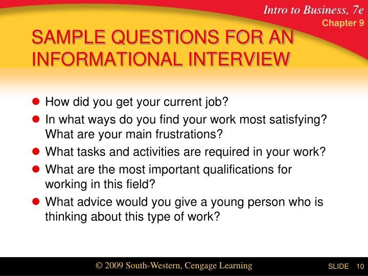 questions for informational interview