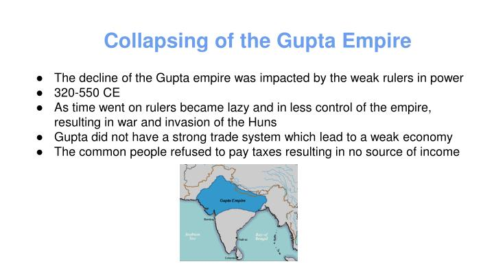 Collapsing of the Gupta Empire