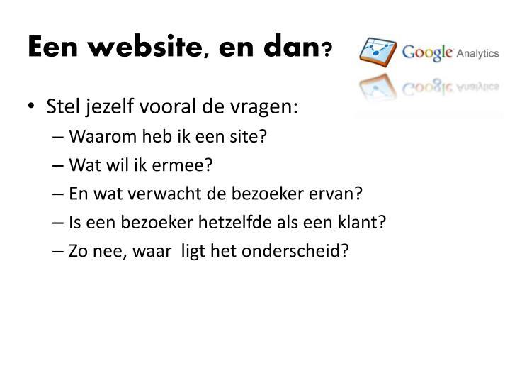Een website, en dan?