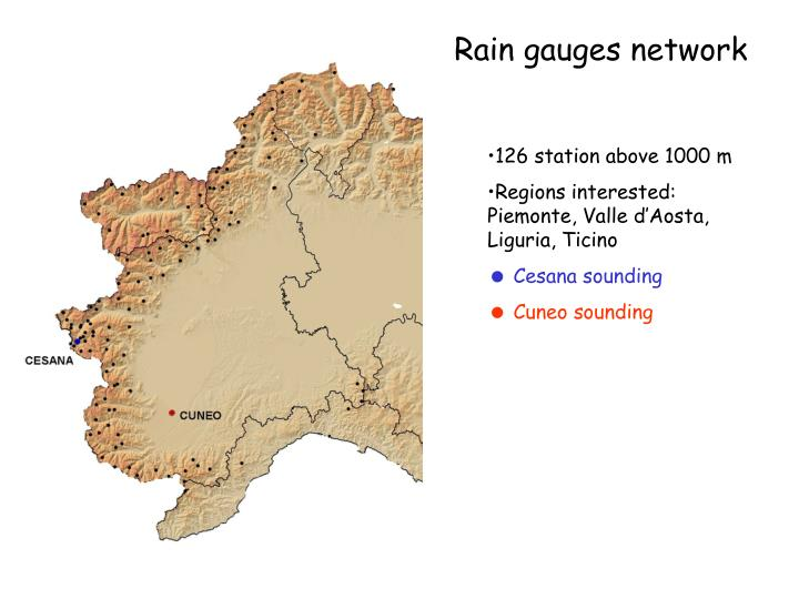 Rain gauges network