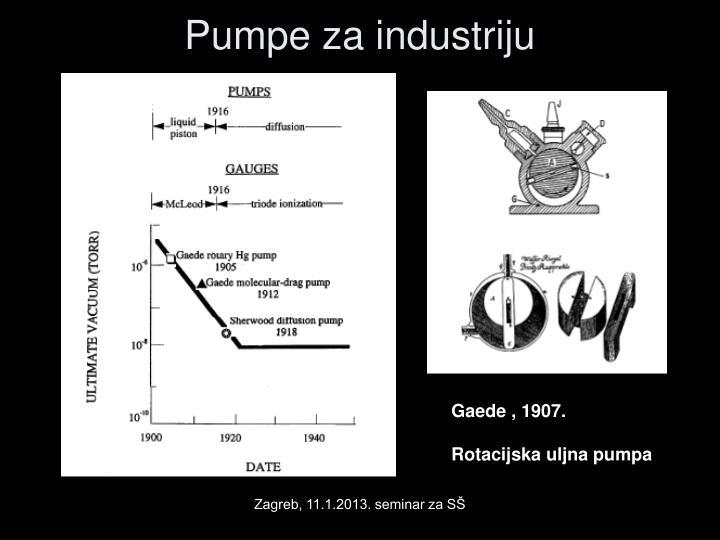 Pumpe za industriju