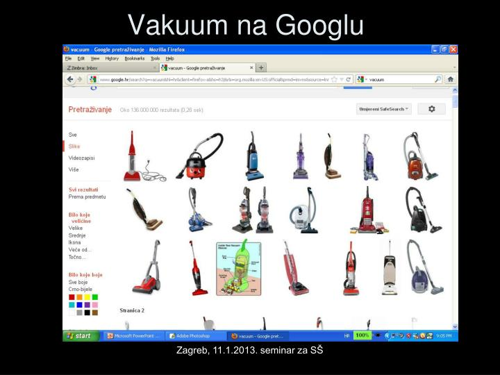 Vakuum na Googlu