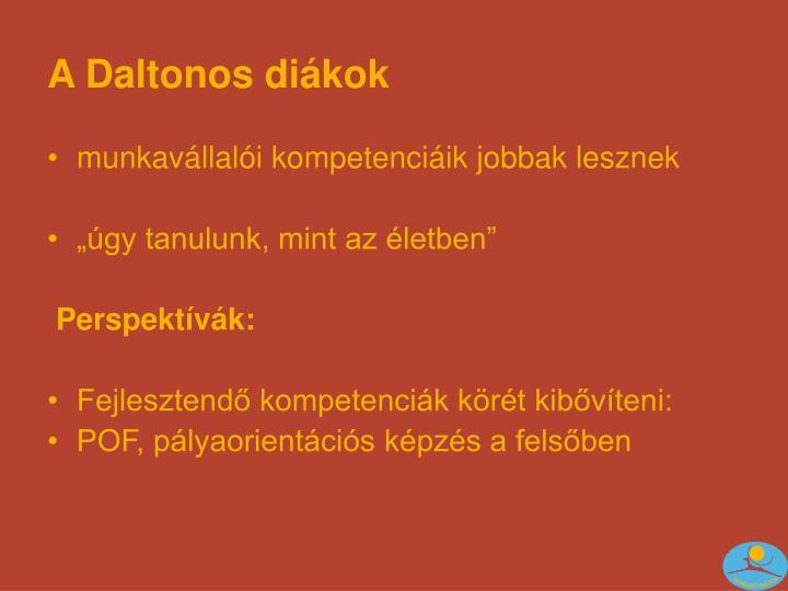 A Daltonos diákok