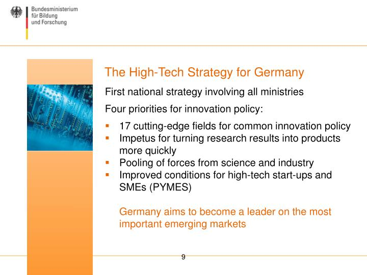 The High-Tech Strategy for Germany