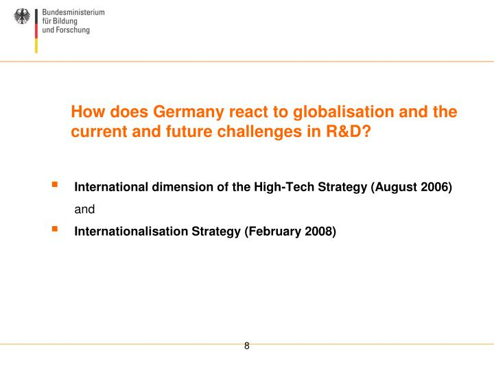 International dimension of the High-Tech Strategy