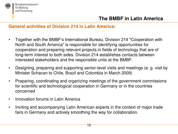 The BMBF in Latin America