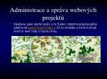 administrace a spr va webov ch projekt