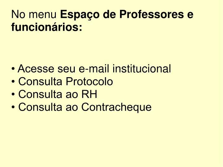 • Acesse seu e-mail institucional