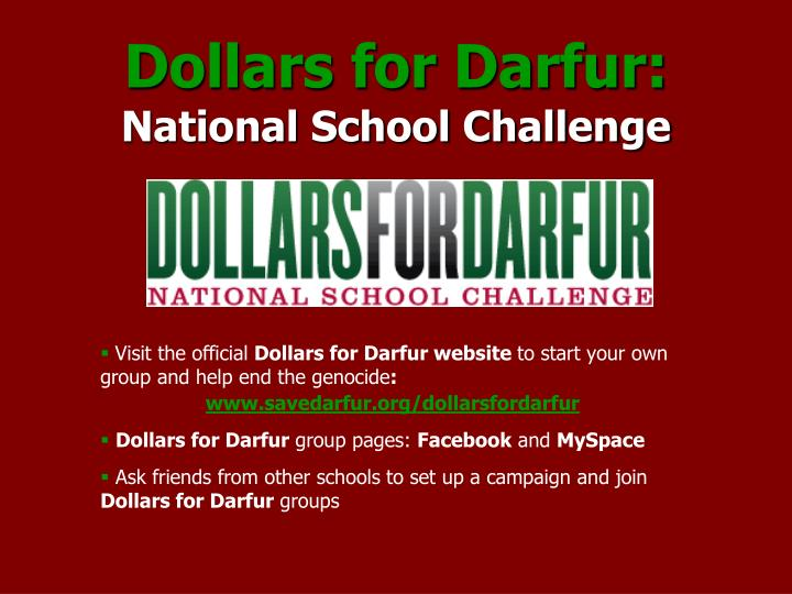 Dollars for Darfur: