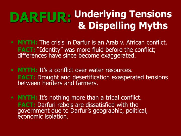 Underlying tensions dispelling myths