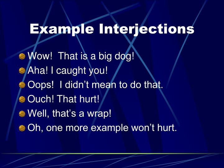 Example Interjections