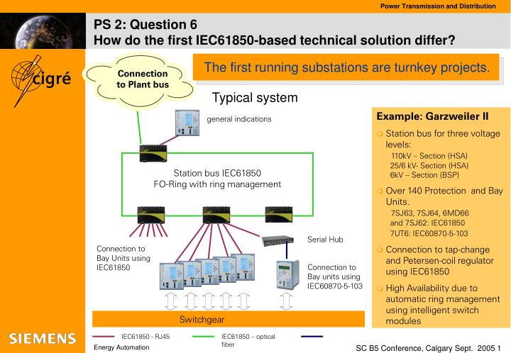 ps 2 question 6 how do the first iec61850 based technical solution differ n.