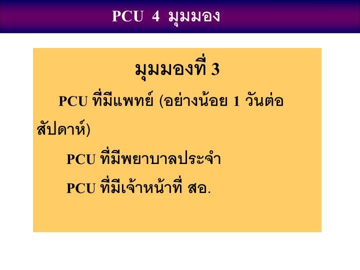 PCU  4  มุมมอง