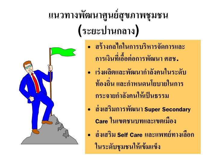 แนวทางพัฒนาศูนย์สุขภาพชุมชน