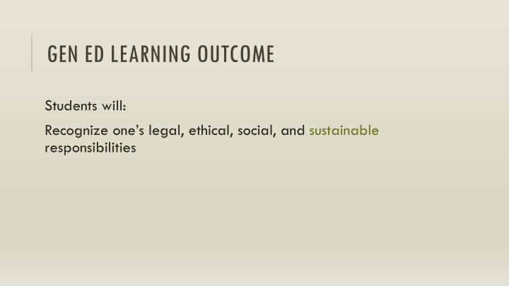 Gen Ed Learning Outcome