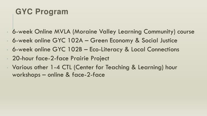 GYC Program