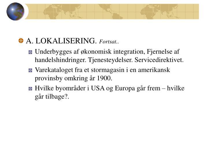 A. LOKALISERING.
