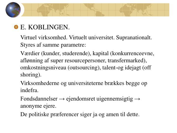 E. KOBLINGEN.