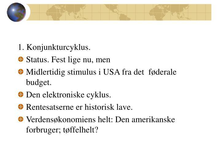 1. Konjunkturcyklus.