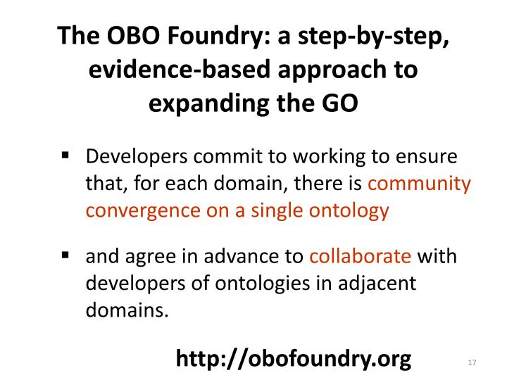 The OBO Foundry: a step-by-step, evidence-based approach to expanding the GO