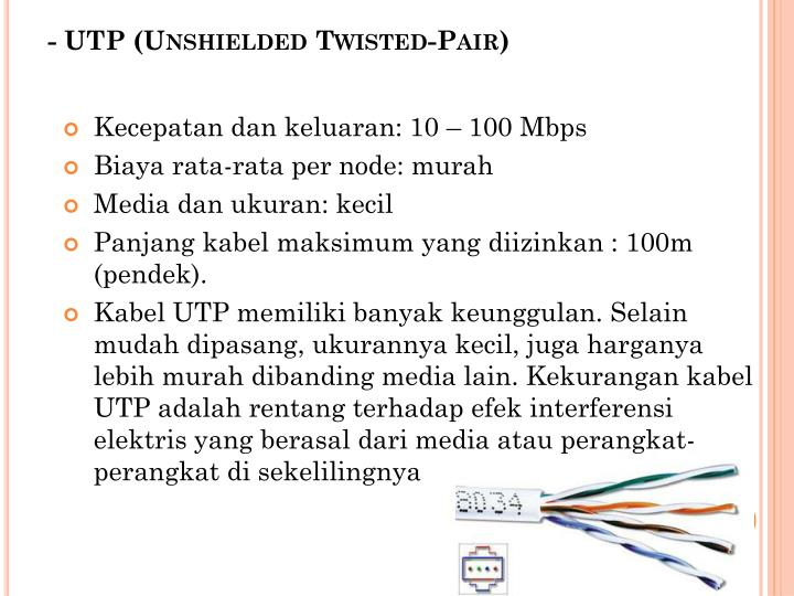 - UTP (Unshielded Twisted-Pair)