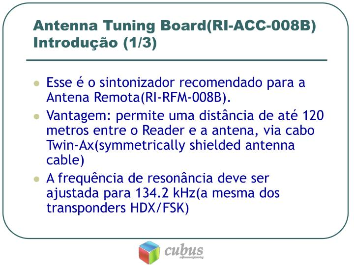Antenna tuning board ri acc 008b introdu o 1 3